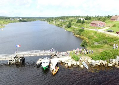 2016 Festival Savalette: Tintamarre finish line – Footbridge and the annual duck race. South to North view