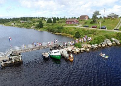 Tor Bay Acadien Society -Tor Bay Acadien Society - 2016 Festival Savalette: Nervous Spectators viewing the tense duck race