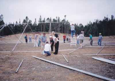 Tor Bay Acadien Society - Setting up the Big Top for the Acadian Festival – August 27, 2004
