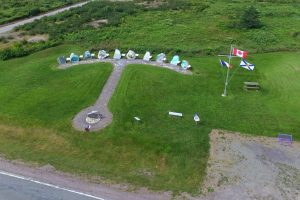 Tor Bay Acadien Society - 2016 Festival Savalette: Parc do nos Ancêres view of anchor design