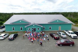 Tor Bay Acadien Society - 2016 Festival Savalette: Lining up for the Tintamarre in front of the Communities Along the Bay Multi-Purpose Facility