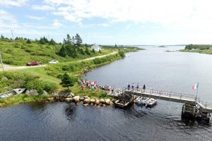 Tor Bay Acadien Society - 2016 Festival Savalette: Tintamarre finish line – Footbridge and the annual duck race