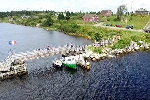 Tor Bay Acadien Society - 2016 Festival Savalette: Nervous Spectators viewing the tense duck race
