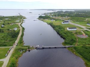 Tor Bay Acadien Society - 2016 Festival Savalette: Tintamarre finish line – Footbridge and the annual duck race