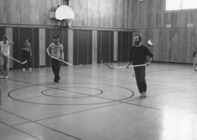 Tor Bay Acadien Society - Festival du Tamarin-late 1980s. Gilles Lapierre (les îles de la Madeleine and Arnold Avery-Floor Hockey Tournament, Riverview School