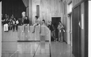 Tor Bay Acadien Society - Spectators watching floor hockey