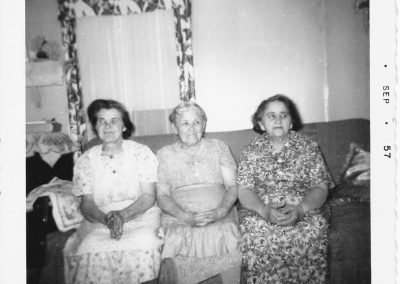 Tor Bay Acadien Society - Left to Right – Catherine Richard, Mary-Celeste Pellerin, Vennie Richard