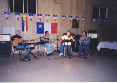 Tor Bay Acadien Society - playing-at-Acadian-gathering-2002